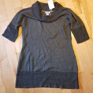 NWT Soft Surroundings two tone gray tunic sweater